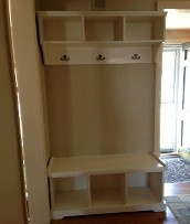 Entry Way Combination Bench and Wall Unit
